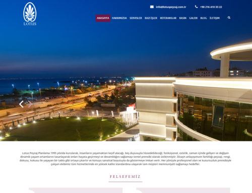 Lotus Peyzaj Web Site Tasarımı